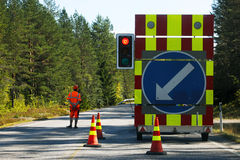 Closed road Royalty Free Stock Photo
