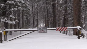 Closed Road in Winter stock video footage
