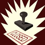 Closed rubber stamp Royalty Free Stock Photos