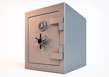 Closed safe. 3d rendering of an closed safe Royalty Free Stock Photo