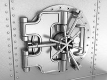 Closed safe deposit vault Royalty Free Stock Images