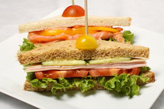 Closed sandwiches Royalty Free Stock Photos