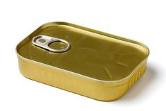 Closed sardine tin Royalty Free Stock Photo