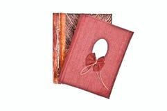 Closed scrapbooks Stock Photos
