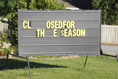 Closed for the Season Stock Photography