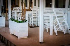 Closed Seasonal Restaurant Detail Royalty Free Stock Images