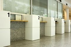 Closed Service Windows. Counter in the Hague City Hall with service windows closed Royalty Free Stock Photography