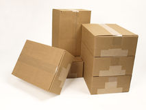 Closed Shipping Boxes Stock Image
