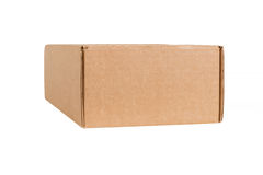 Closed shipping cardboard box isolated Stock Image