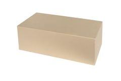 Closed shipping cardboard box isolated Stock Photo