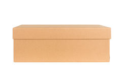 Closed shipping cardboard box isolated Stock Photography
