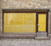 Closed shop. Door of an old closed shop royalty free stock photography