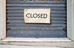 Closed shop, closed enterprise Stock Photography