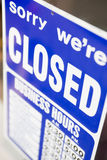 Closed Shop Sign. Close Up Of A Closed Shop Sign Royalty Free Stock Photos