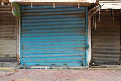 Closed shops in Delhi, India Royalty Free Stock Image