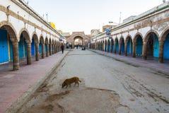 Closed shops in Essaouira Stock Image