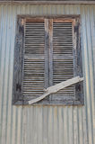 Closed shutter on window. Closed old shutter on window,Kefalonia,Greece Royalty Free Stock Photo
