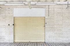 Closed Shutters in a commercial Shop Royalty Free Stock Photo