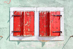 Closed shutters Royalty Free Stock Images