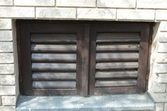 Closed Shutters Stock Photography