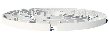 Closed Side view of maze with enter Royalty Free Stock Photography