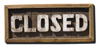 CLOSED sign. An old wood closed sign Royalty Free Stock Image