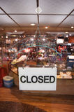 Closed Sign. Of Retail Shop Stock Photos