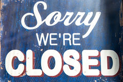 Free Closed Sign Stock Photo - 27669880