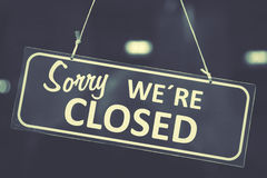 Free Closed Sign Royalty Free Stock Image - 54587386