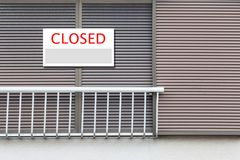 Closed Sign board royalty free stock image