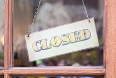 Closed sign board Royalty Free Stock Photos