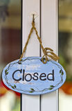 Closed sign board Stock Photos