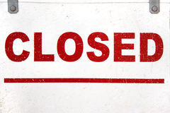 Closed Sign Closeup Royalty Free Stock Photo