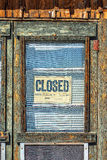 Closed sign on the door Stock Image