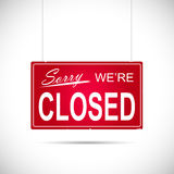 Closed Sign Illustration Royalty Free Stock Image