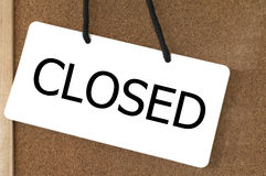 Closed sign label. Royalty Free Stock Photography