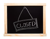 Closed sign made on a blackboard Royalty Free Stock Image