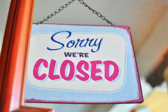 Closed sign Stock Photo