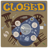 Closed sign. Stock Photography