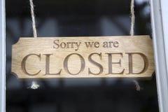 Closed Sign on Shop Door Stock Photos
