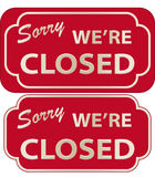 Closed Sign (vector). Vector illustration of Sorry We're Closed Sign with volume Stock Illustration