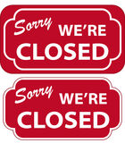 Closed Sign (vector). Vector illustration of Sorry We're Closed Sign Stock Illustration