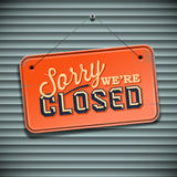 We are Closed Sign. Vintage sign, vector Eps10 illustration Stock Images
