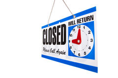 Closed Sign on a white background Stock Photos