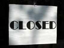 Closed Signage Stock Photos