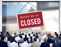 Closed Signage Marketing Shop Concept Royalty Free Stock Photography