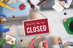 Closed Signage Marketing Shop Concept Royalty Free Stock Photo