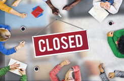 Closed Signage Marketing Shop Concept Stock Photography