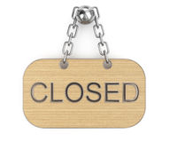 Closed signboard Stock Image