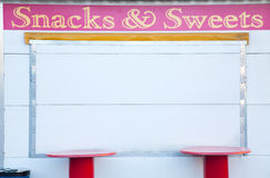 Closed snacks and sweets food truck Royalty Free Stock Photo